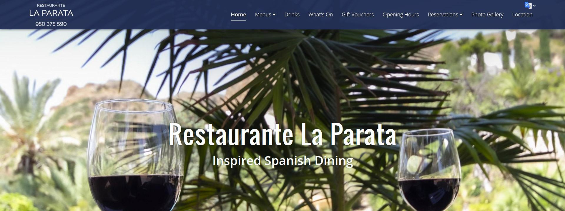 Bars and Restaurants Websites